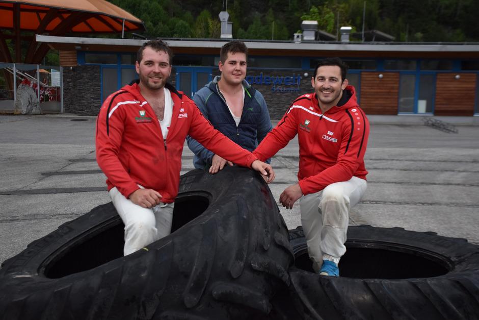 Daniel Fankhauser, Simon Strasser und Florian Lindner zählen unter den Zillertaler Rangglern zu den Favoriten für den Gauder Hogmoar. Doch die Konkurrenz ist groß. Daher wird fleißig trainiert.