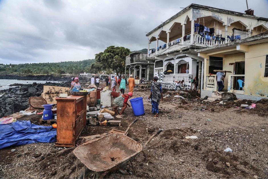 """Wirbelsturm """"Kenneth"""" sorgte in Mosambik für Zerstörung."""