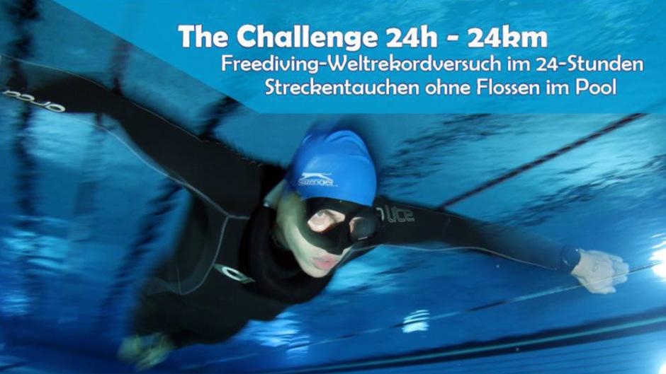 Thomas Oberhuber, achtfacher österreichischer Meister im Apnoe-Tauchen, stellte am Freitag und Samstag im Hallenbad in der Amraser Straße einen neuen Weltrekord auf.