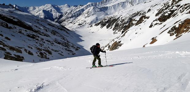 Nach dem langen Flachstück im Maurertal erfolgt der Anstieg hinauf in Richtung Maurerkees.