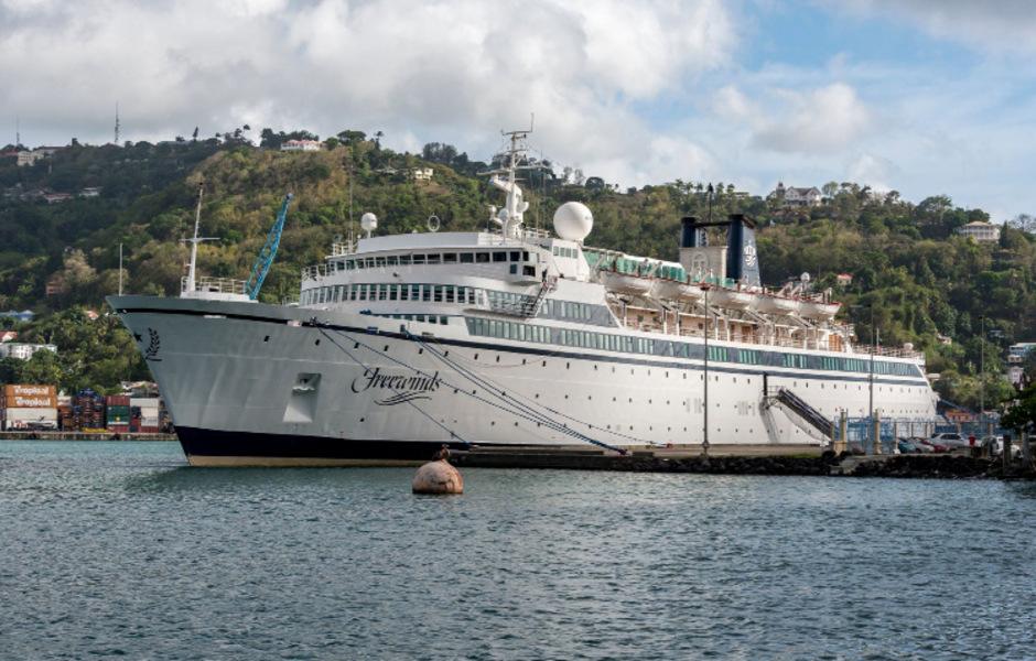 Das Schiff stand mehrere Tage lang unter Quarantäne.