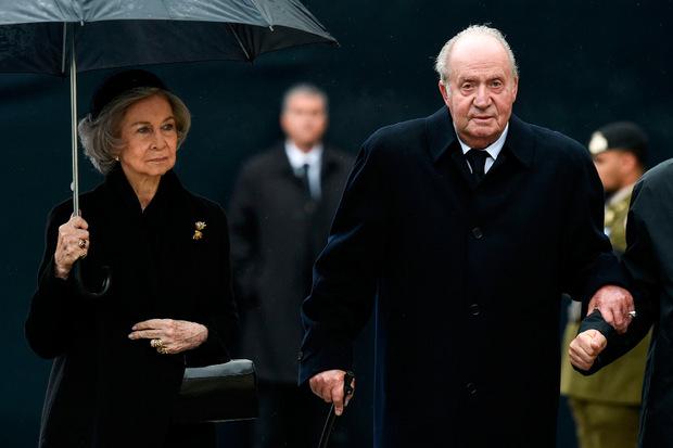 Königin Sophia von Spanien und Juan Carlos.