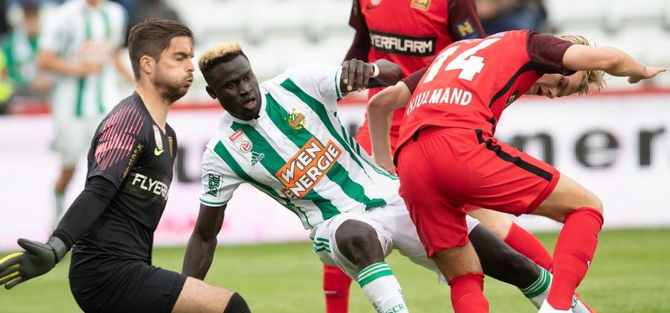 Aliou Badji traf doppelt für Rapid beim Sieg gegen die Admira.