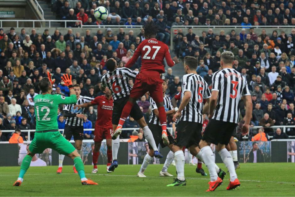 Divock Origi (Liverpool) erzielte mit seinem Köpfler einen Treffer.