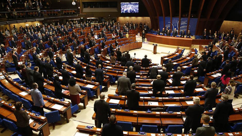 Sitzung des Europarates in Straßburg.