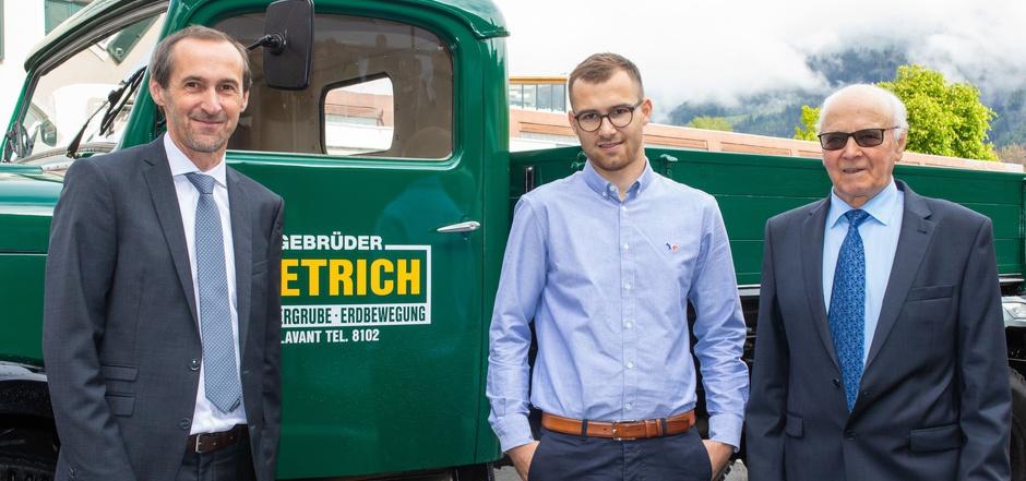 Dirk Dietrich, Philip Dietrich und Firmenmitbegründer Heinrich Dietrich (v.l.) luden zum Festakt.