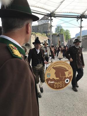 Die Festung Kufstein bot die Kulisse für die Eröffnung des diesjährigen Landesschießens im Zeichen des Maximilian-Gedenkjahres.