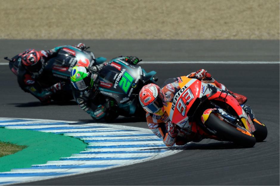 Marc Marquez dominierte das Rennen in Jerez.