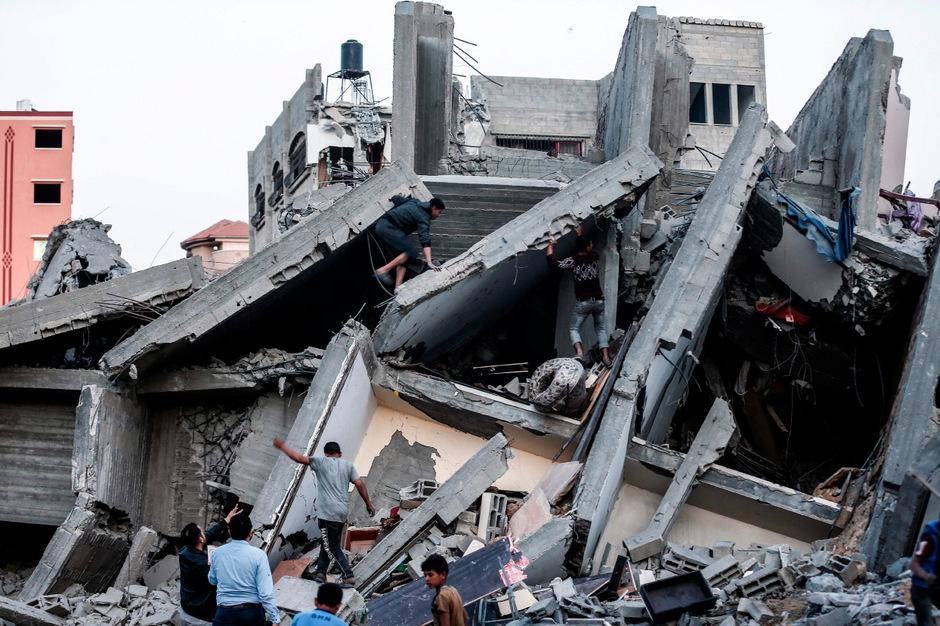 Israel reagierte mit heftigen Beschuss auf Raketen aus dem Gazastreifen. Insgesamt starben 19 Palästinenser.