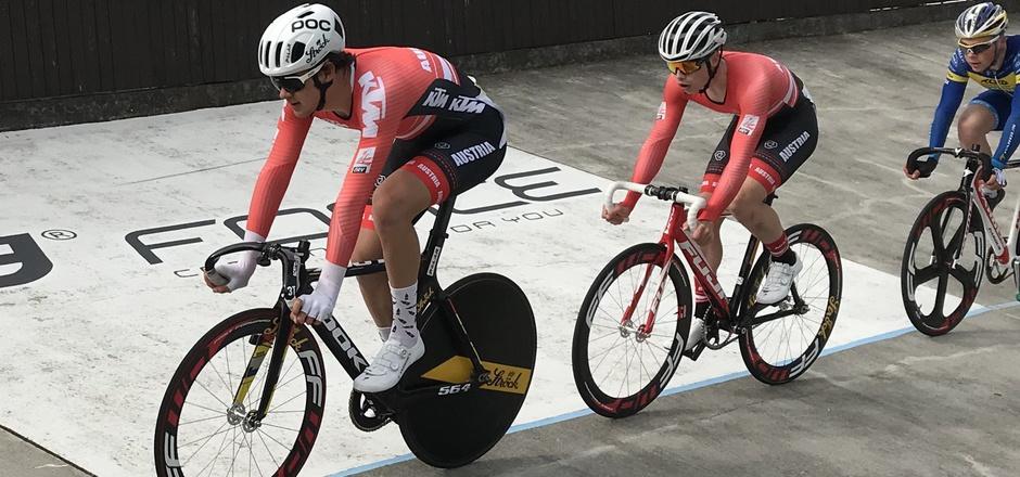 Tim Wafler (l.) und Stefan Kovar fuhren in Tschechien auf das Podest.