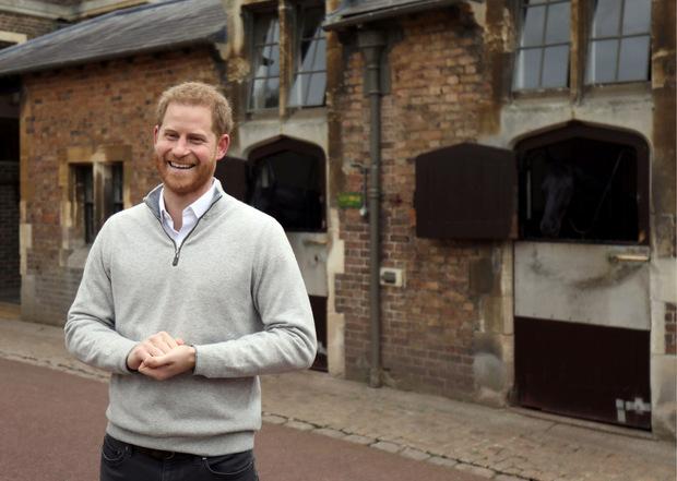 Überglücklicher Papa: Prinz Harry zeigte bei einem kurzen Statement auf Windsor Castle seine Freude über die Geburt seines Sohnes.