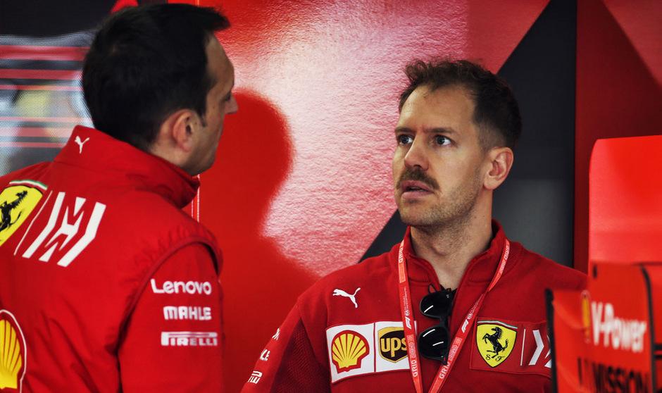Auf Ferrari-Star Sebastian Vettel und seine Crew wartet noch jede Menge Arbeit.