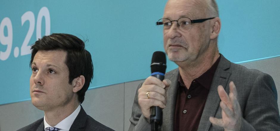 Erhöhten Gesprächsbedarf mit dem Theaterpublikum hat das Führungsduo Markus Lutz (l.) und Johannes Reitmeier, nachdem die erwartete Kündigungswelle bei den Abos eingetreten ist.