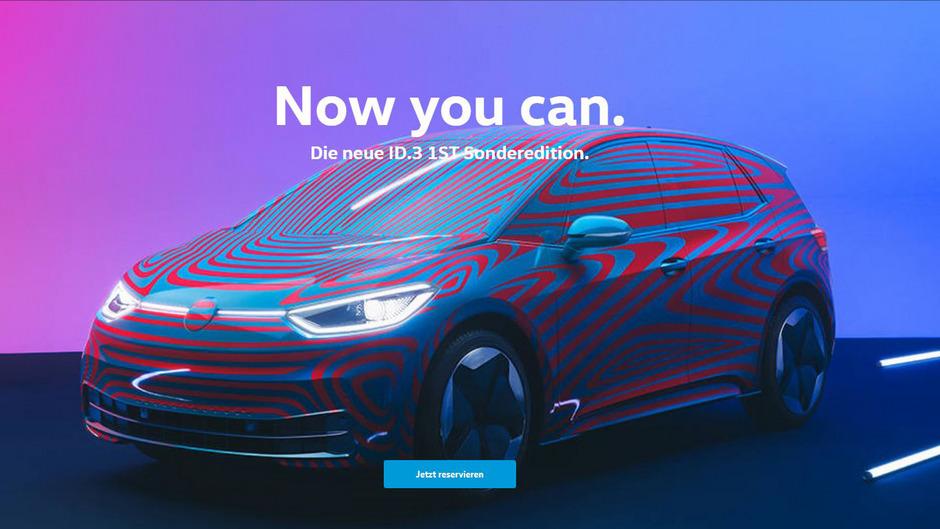 Mit dem ID.3 will Volkswagen eine neue Ära der Elektromobilität einläuten. Komplett sehen können Interessenten den Wagen noch nicht. Reservierungen sind aber bereits möglich.