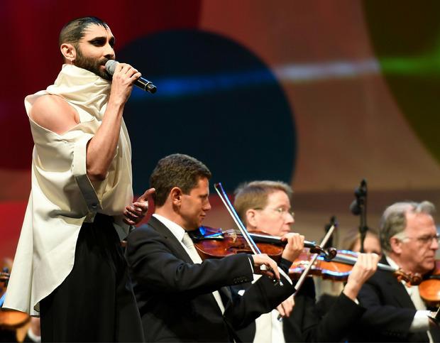 "Conchita sang Beethovens ""Ode an die Freude""."