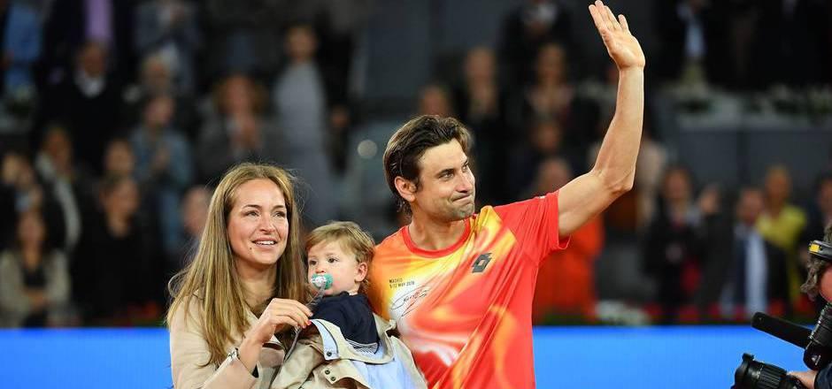David Ferrer verabschiedete sich mit Frau und Sohn von der Tennis-Bühne.