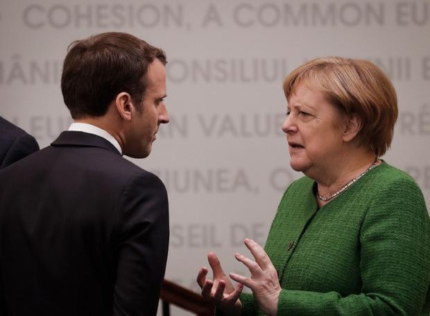 Frankreichs Präsident Emmanuel Macron und die deutsche Bundeskanzlerin Angela Merkel.