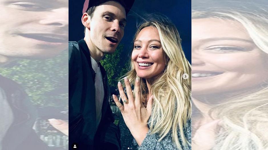 Er habe um ihre Hand angehalten, schrieb Duff am Donnerstag auf Instagram.