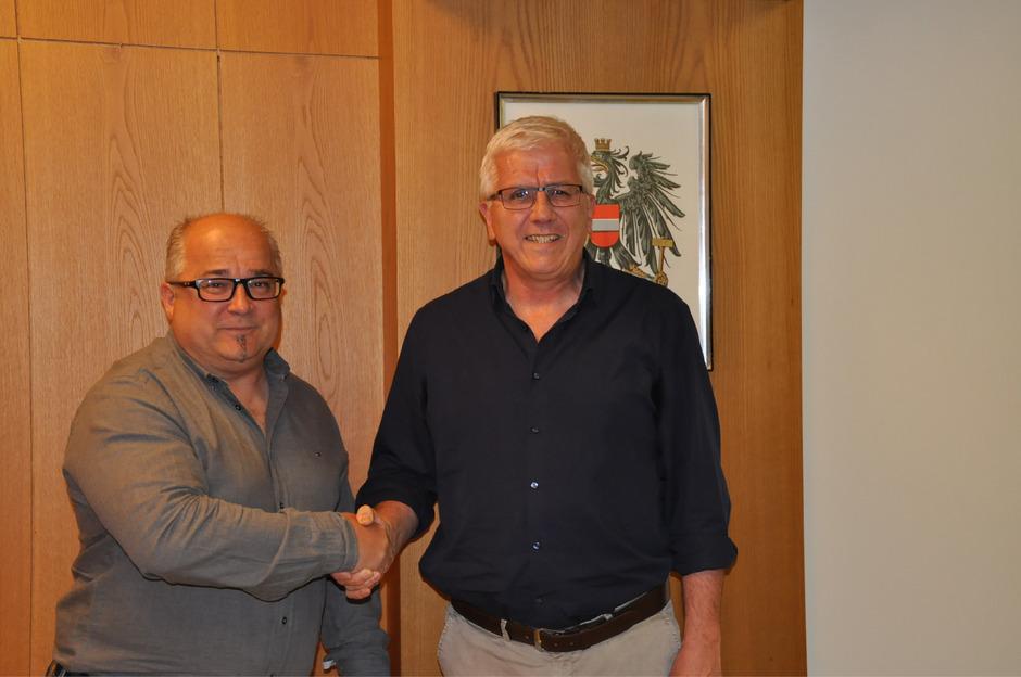 BM Manfred Köll (r.) freut sich auf die gute Zusammenarbeit mit seinem neuen Vize Bernhard Gritsch.