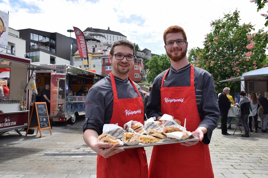 Auch Tiroler Produzenten verwöhnen die Gaumen am Fischergries mit Fleisch- und Fischprodukten aus der Region.