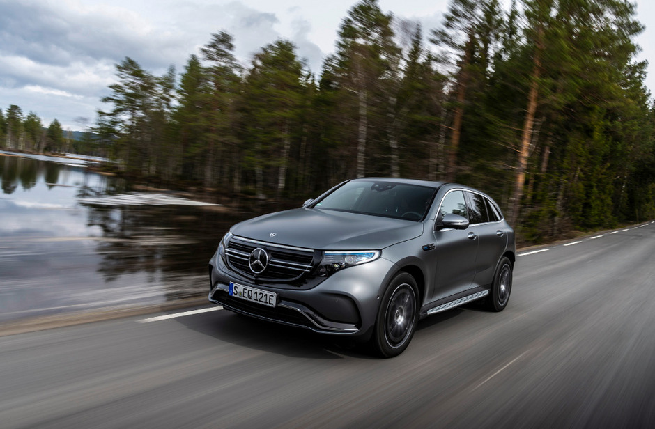 Hightech-Konsole: Der EQC ist wie andere neue Mercedes-Baureihen mit dem MBUX-Infotainmentsystem bestückt.