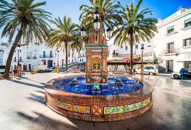 Eines der schönsten Dörfer der Küste, Vejer de la Frontera, liegt nicht direkt am Wasser.