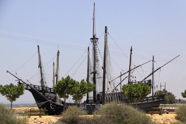 Der Nachbau eines Kolumbus-Schiffes in Palos de la Frontera.