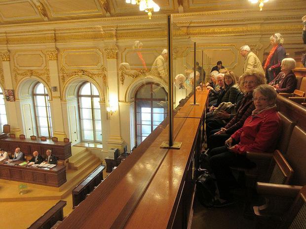 Auf dem Programm stand auch ein Besuch im tschechischen Parlament.