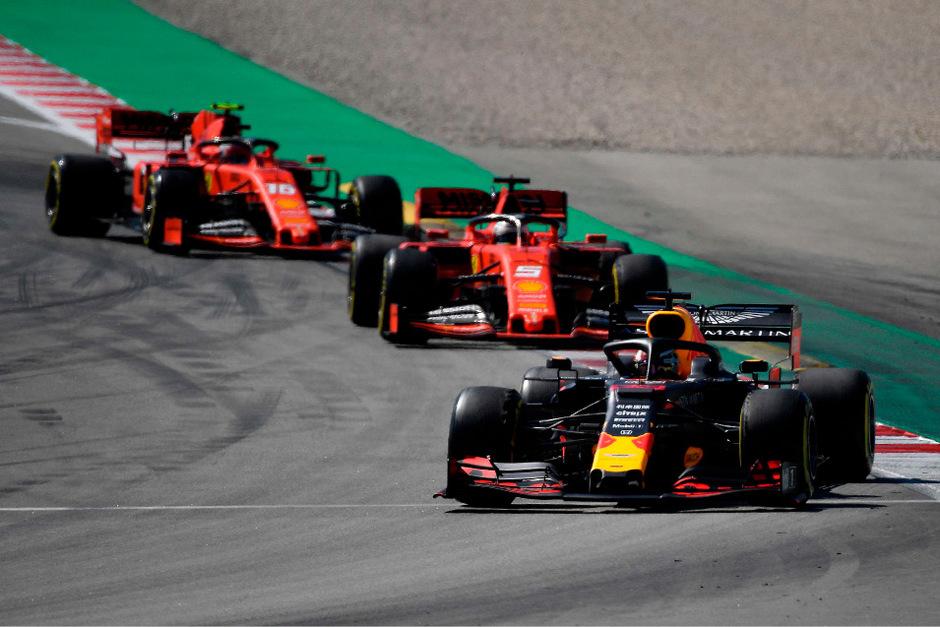 Verstappen hatte die Ferraris von Vettel und Leclerc im Griff.