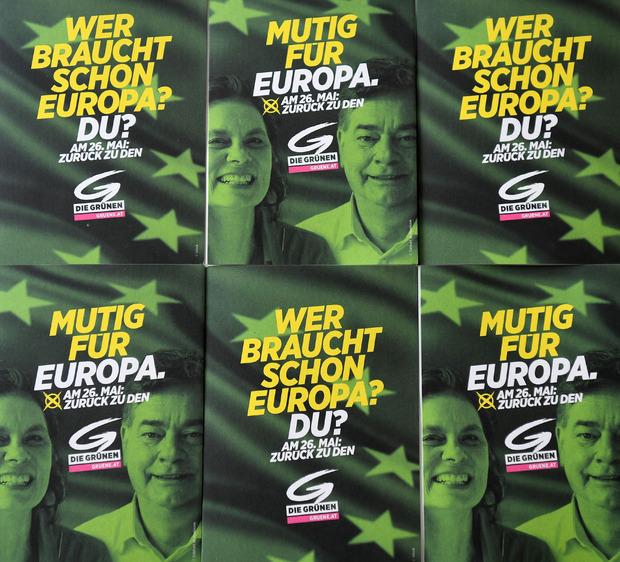 Schlichte Wahlwerbung der Grünen.