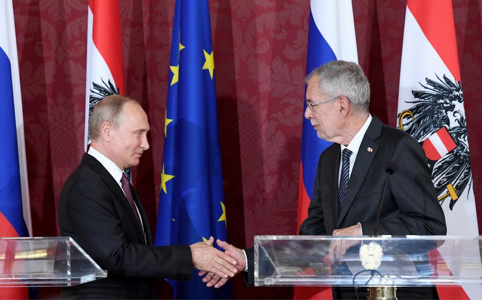 Van der Bellen und Putin trafen zuletzt im Juni 2018 aufeinander.