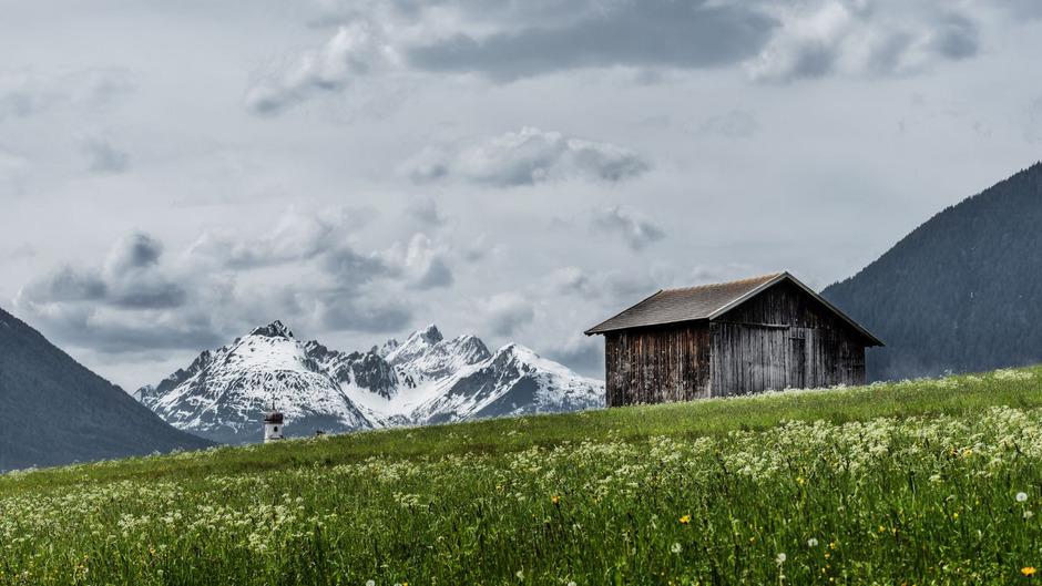 Frost und Schnee im Mai: Diesen Ausblick in Mieming hat TT-Leser Manuel Kokseder festgehalten.