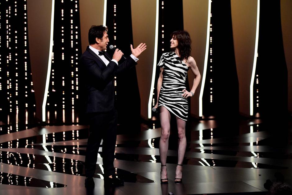 Der spanische Schauspieler Javier Bardem und seine französische Kollegin Charlotte Gainsbourg.