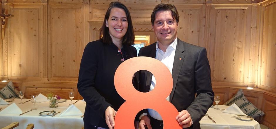 ÖVP-Europawahl-Kandidatin Barbara Thaler war gestern mit VP-Bezirksobmann Peter Seiwald im Bezirk auf Wahlkampftour.