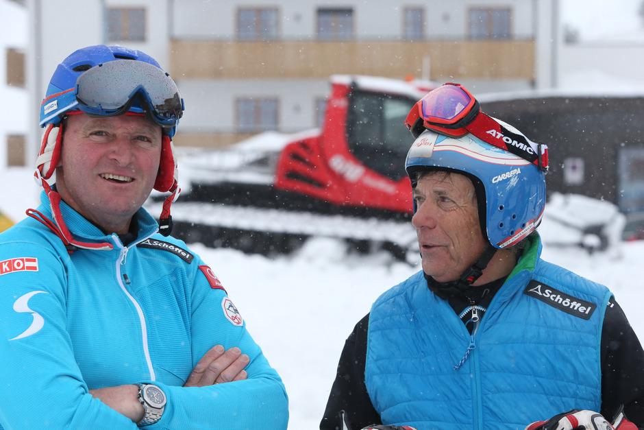 Der Vorarlberger Patrick Ortlieb (l.), Abfahrts-Olympiasieger 1992, gilt als möglicher Nachfolger von ÖSV-Präsident Peter Schröcksnadel (r.).