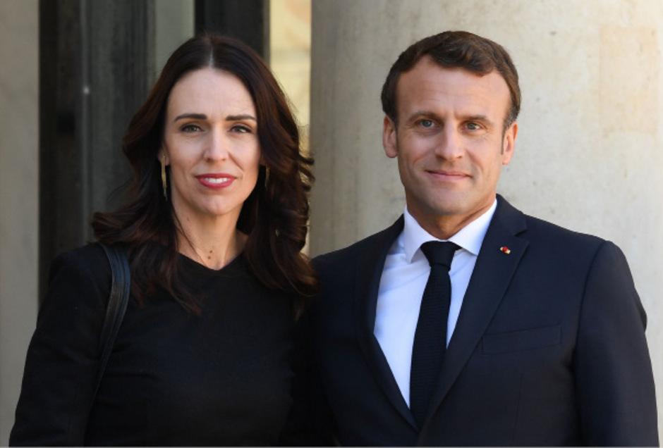 Die neuseeländische Premierministerin Jacinda Ardern und Frankreichs Staatspräsident Emmanuel Macron.