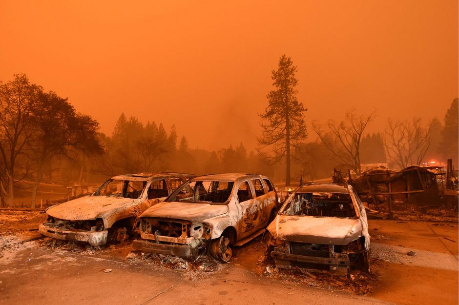 """Das Ausmaß der Zerstörung durch die so genannten """"Camp Fire"""" war enorm."""