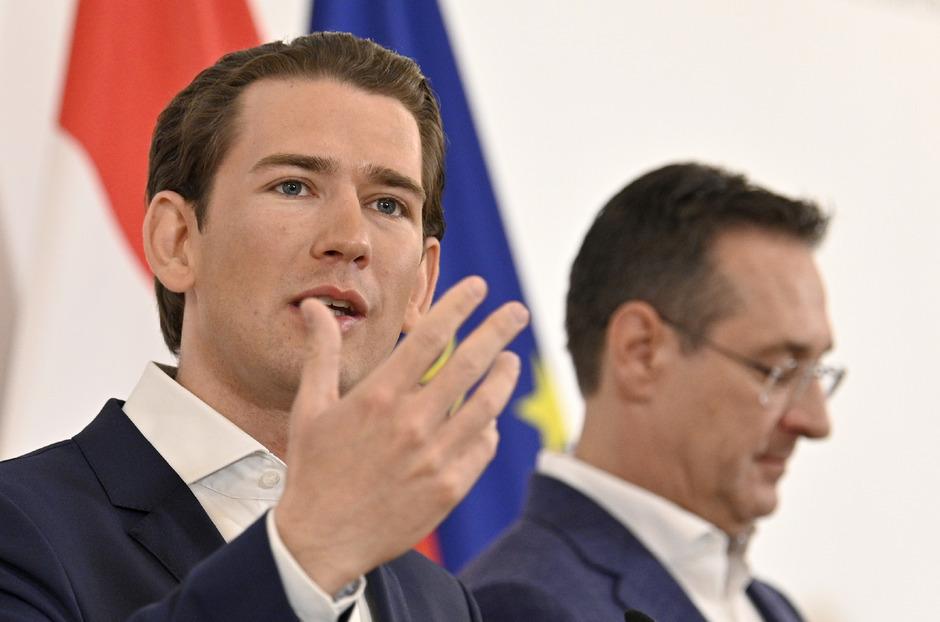 Kanzler Sebastian Kurz (ÖVP) und Vizekanzler Heinz Christian Strache (FPÖ).