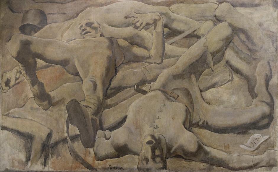 """Schonungslos: Kriegsgräuel bei Egger-Lienz' """"Finale"""" (1918)."""