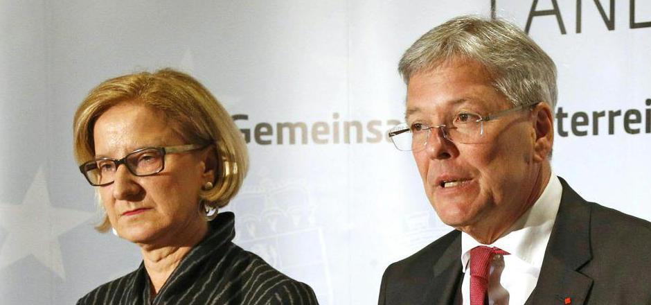 Niederösterreichs Landeshauptfrau Johanna Mikl-Leitner (ÖVP) und ihr Kärntner Amtskollege Peter Kaiser (SPÖ).