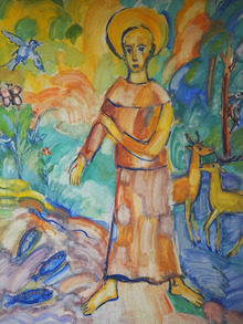 Dder Hl. Franziskus in der Kapelle vom Wohnheim Hötting.