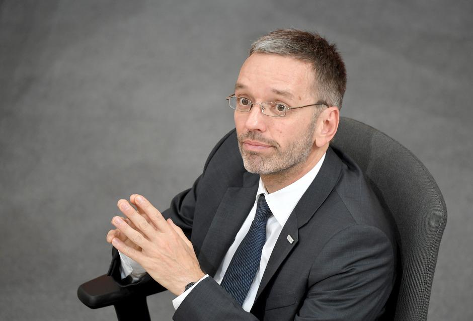 Innenminister Herbert Kickl am Donnerstag im Nationalrat.