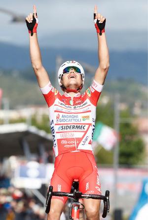 Fausto Masnada durfte sich über den Tagessieg freuen.