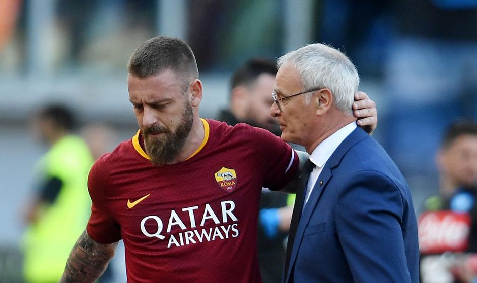 Kapitän Daniele De Rossi und Trainer Claudio Ranieri müssen die Roma im Sommer verlassen.