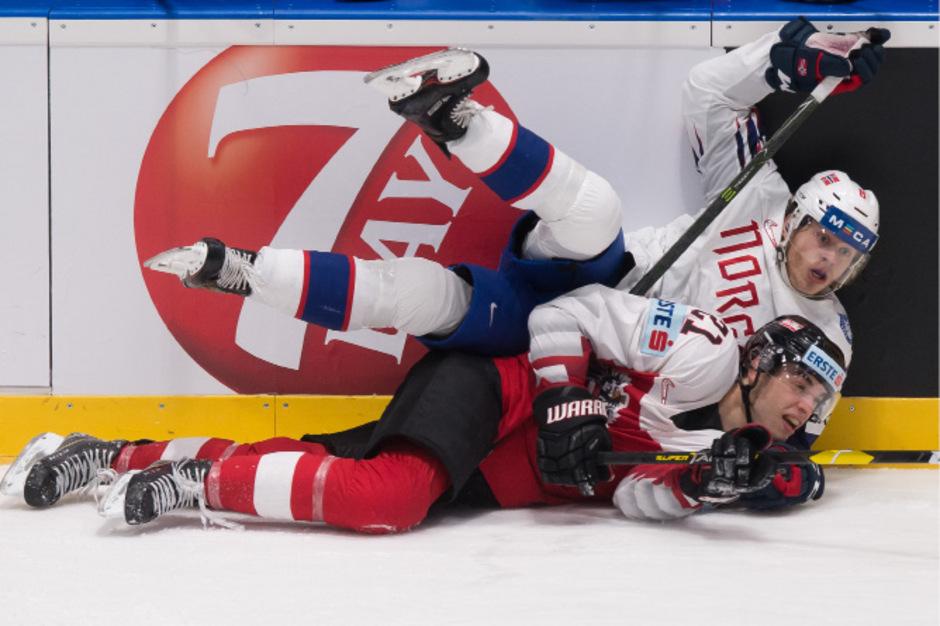 Österreich mit Lukas Haudum ging am Ende gegen Norwegen unter.