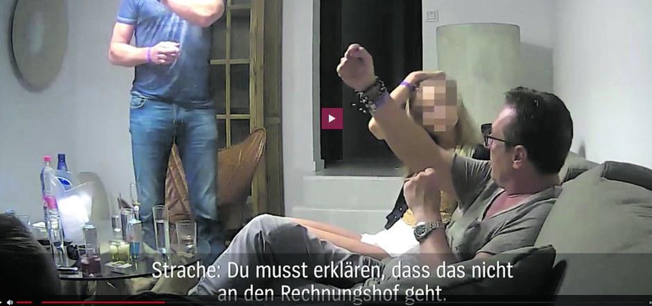 In dem Video spricht Strache von einem Verein, über den Spenden vom Rechnungshof unbemerkt an die FPÖ weitergeleitet werden.