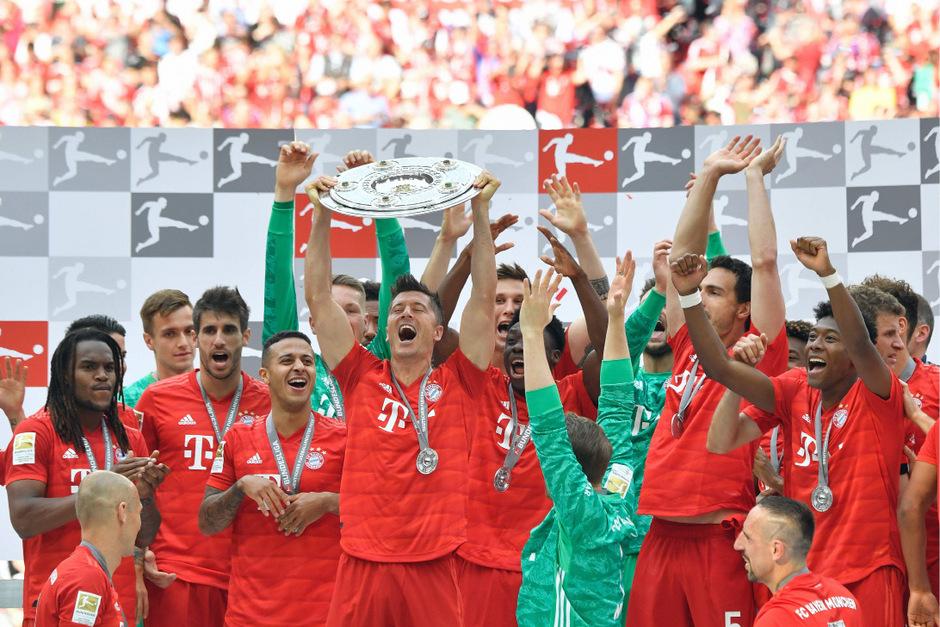 Der FC Bayern jubelte über den 29. Meistertitel in Deutschland.