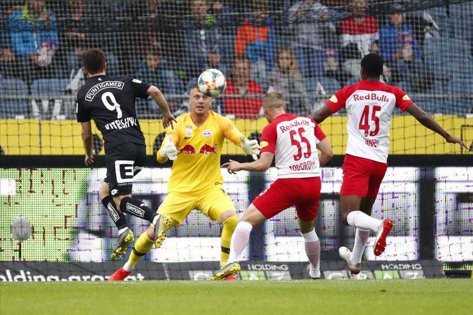 Salzburg-Goalie Walke sah beim Gegentor nicht gut aus.