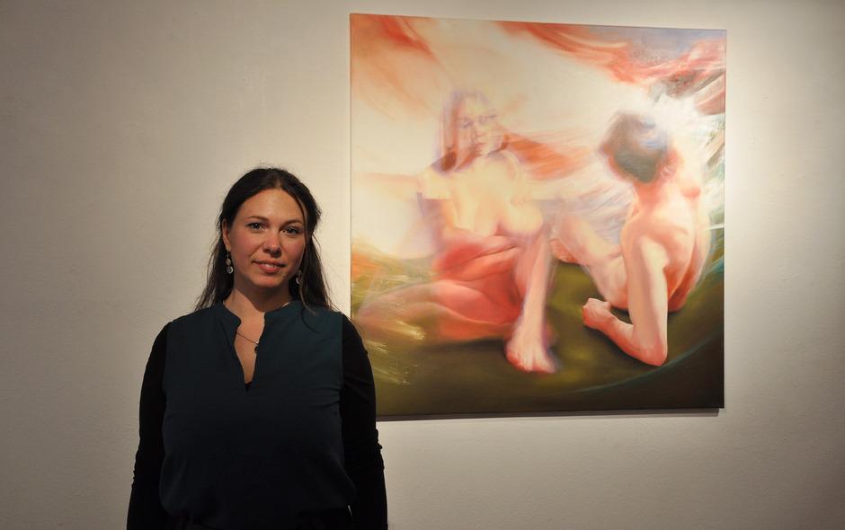 Wie die alten Meister hält Simone Thurner die unfixierbaren Motive ihrer Bilder gerne in Öl fest.