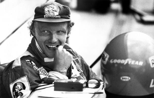 Niki Lauda während des Vortrainigs auf dem Hockenheimring für den Großen Preis von Deutschland.